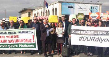 Ekolojistler Türkiye'nin bir çok yerinden yapılan açıklamalar ile Ankara Valiliği'ni protesto etti